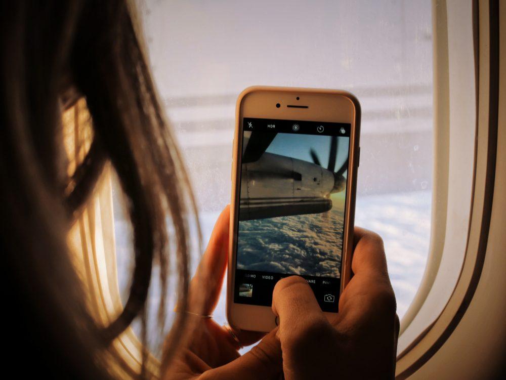 phone on a plane